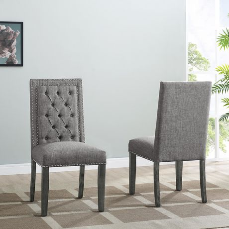Excellent Brooklyn Tufted Dining Chair With Nail Head Trim Set Of 2 Creativecarmelina Interior Chair Design Creativecarmelinacom