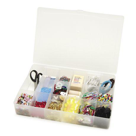 Darice Unité de rangement pour perles en plastique transparent avec 17 compartiments - image 2 de 2