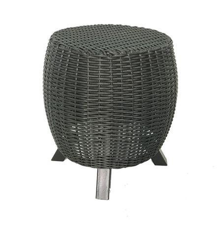 Grapevine Premium Lisa Wicker Decorative Garden Stool With Legs | Walmart.ca