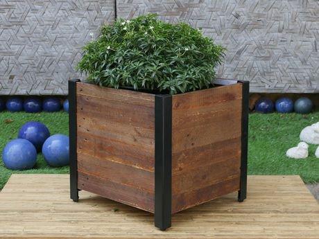 grapevine square urban garden recycled wood planter box walmart canada - Wood Planter Box