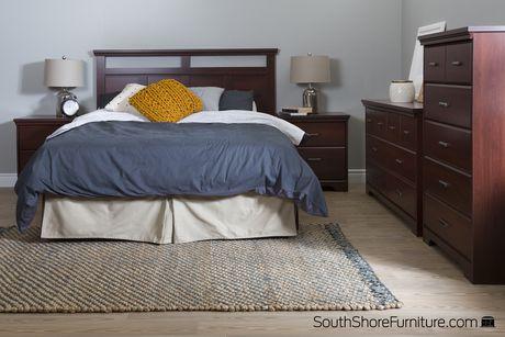 Tête de lit de 54/60 po en cerisier royal Versa de Meubles South Shore - image 3 de 6