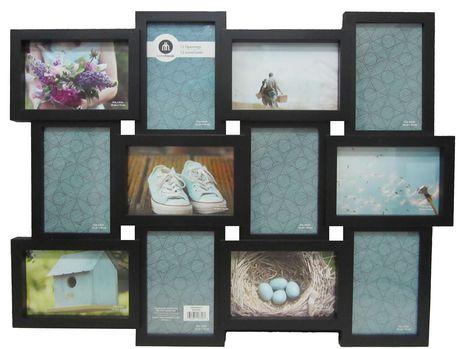 rubix 12 open collage black black collage photo frame
