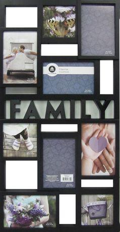 family 9 open collage black black collage photo frame