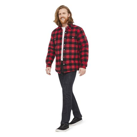 Canadiana Men's Flannel Shirt Jacket - image 5 of 6