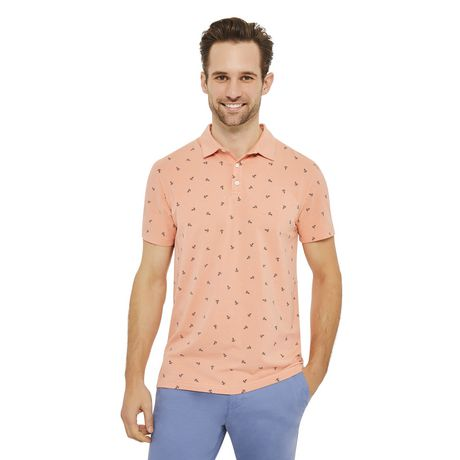 George Men's Printed Stretch Jersey Polo - image 1 of 6