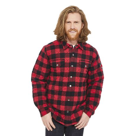 Canadiana Men's Flannel Shirt Jacket - image 1 of 6