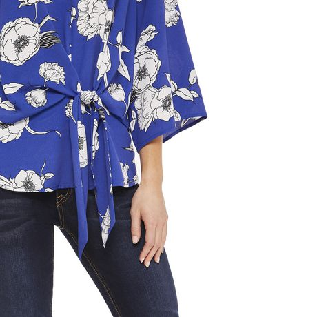 George Women's Draped Tie Front Blouse - image 4 of 6
