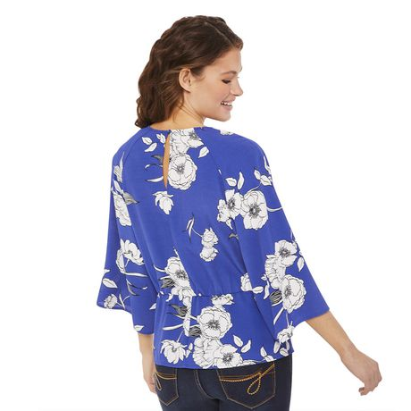 George Women's Draped Tie Front Blouse - image 3 of 6