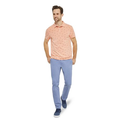 George Men's Printed Stretch Jersey Polo - image 5 of 6