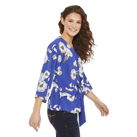 George Women's Draped Tie Front Blouse - image 2 of 6