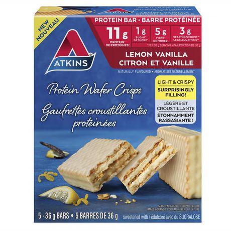 Atkins Lemon Vanilla Protein Wafer Crisps - image 1 of 3