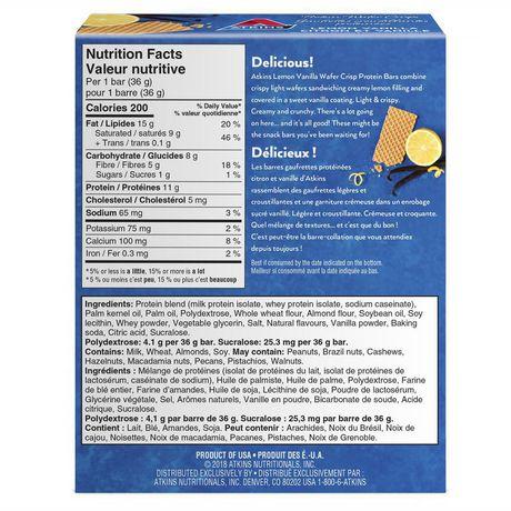 Atkins Lemon Vanilla Protein Wafer Crisps - image 2 of 3