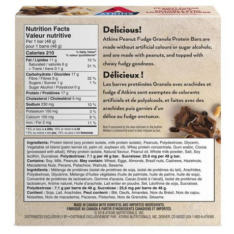 Atkins Peanut Fudge Granola Protein Bar - image 2 of 4
