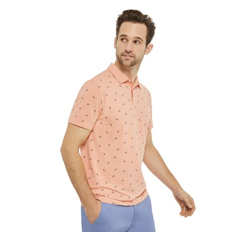 George Men's Printed Stretch Jersey Polo - image 2 of 6