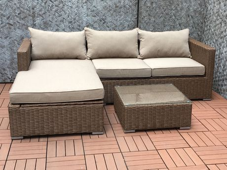 Patio Flare Emmett Deep Seating Sofa Sectional Set With