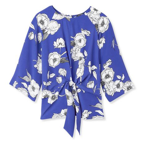 George Women's Draped Tie Front Blouse - image 6 of 6