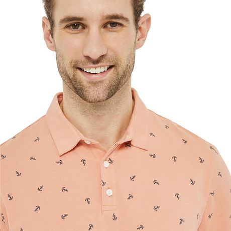 George Men's Printed Stretch Jersey Polo - image 4 of 6