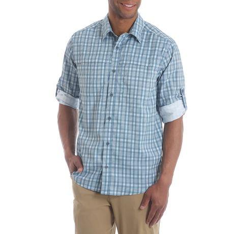 Wrangler Men 39 S Long Sleeve Utility Shirt With Roll Tab