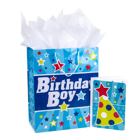 Hallmark Large Birthday Gift Bag With Tissue Paper And Card