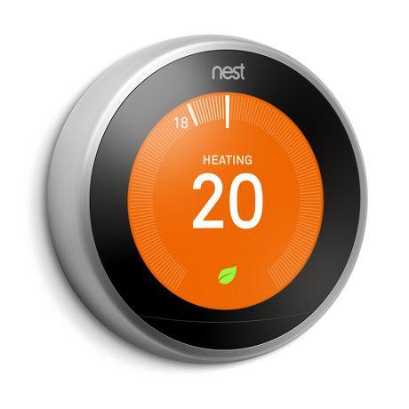 Thermostat intelligent Nest de 3e génération en acier inoxydable - image 1 de 5