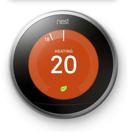 Thermostat intelligent Nest de 3e génération en acier inoxydable - image 3 de 5