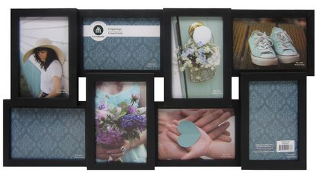 8 opening collage frame black