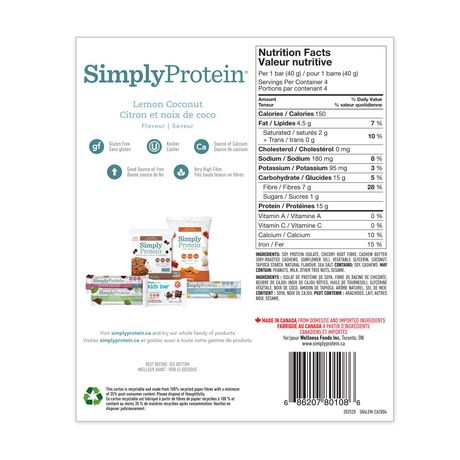 SimplyProtein Lemon Coconut Bars - image 2 of 5