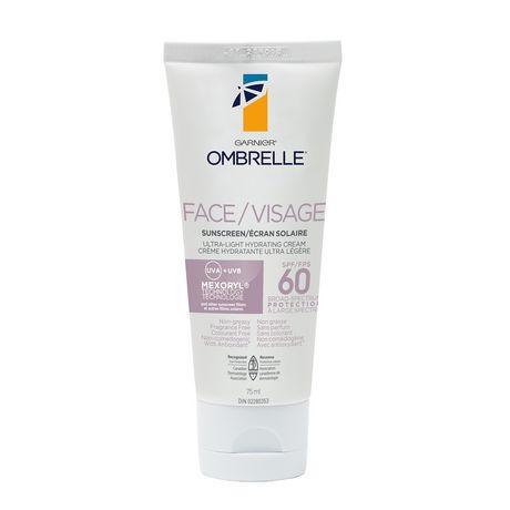 L'oreal Ombrelle Face Ultra-Light Cream - Spf 60 - image 1 of 5