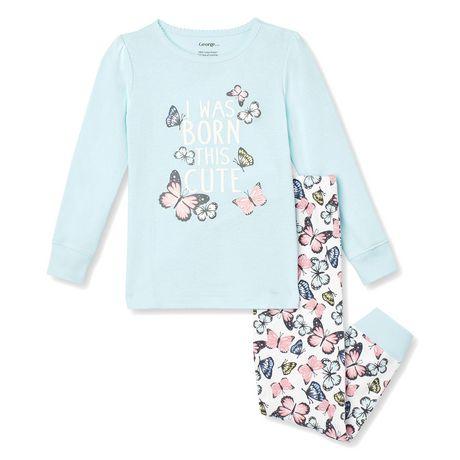 George Toddler Girls' 2-Piece Pyjama Set - image 1 of 2