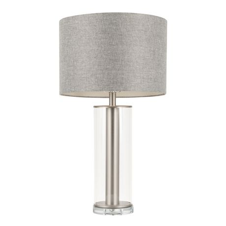 Glacier Contemporary Table Lamp in Walnut and Black by LumiSource - image 1 of 7