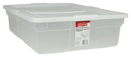Perfect Rubbermaid 26.5 L Storage Container. Clear