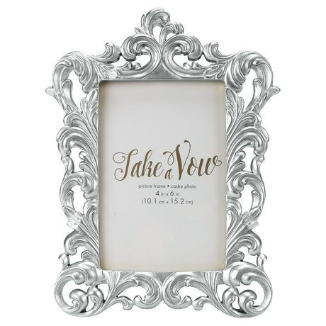 Take A Vow Silver Baroque Picture Frame | Walmart Canada