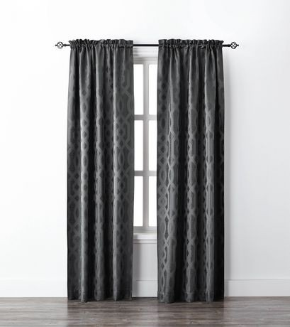 Mainstays Geo Jacquard Single Window Curtain Walmart Canada