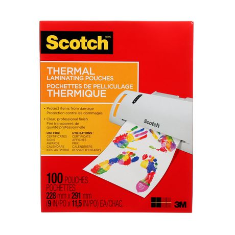 SCOTCH Thermal Laminating Pouches, 100/Pack, - image 3 of 5