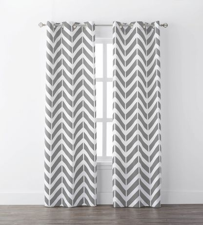 Mainstays Chevron Geo Window Curtains Walmart Canada