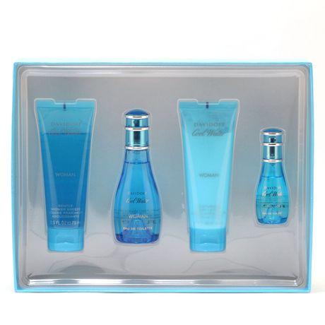 Davidoff Cool Water - 50ML Edt Spray/75ML Shower Gel/75ML Body Lotion/15ml Mini - image 1 of 1