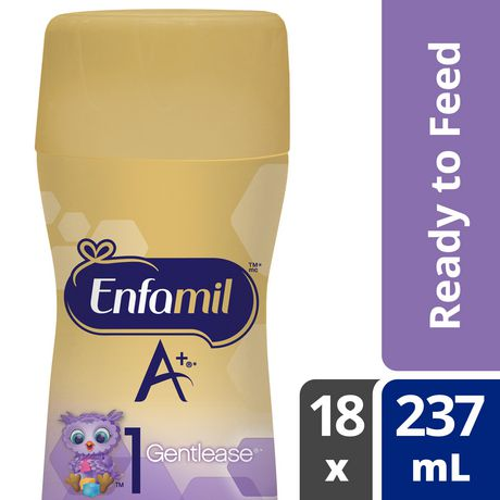Enfamil A+ Gentlease Baby Formula, Ready to Feed Bottles, Nipple-Ready - image 1 of 6