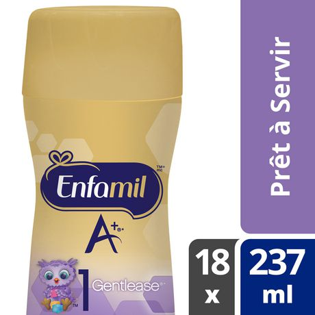 Enfamil A+ Gentlease Baby Formula, Ready to Feed Bottles, Nipple-Ready - image 6 of 6