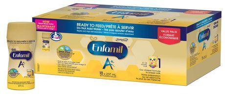 Préparation pour nourrissons Enfamil A+, prête à servir, bouteilles prêtes à recevoir la tétine - image 2 de 5