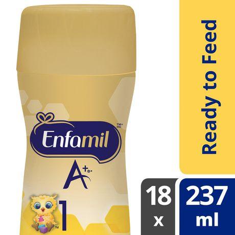 Préparation pour nourrissons Enfamil A+, prête à servir, bouteilles prêtes à recevoir la tétine - image 1 de 5