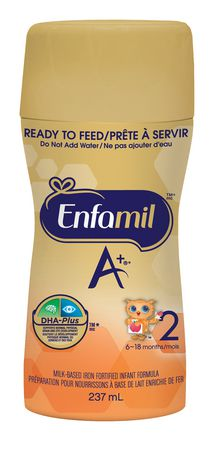 Enfamil A+ 2 Baby Formula, Ready to Feed Bottles, Nipple-Ready - image 3 of 6