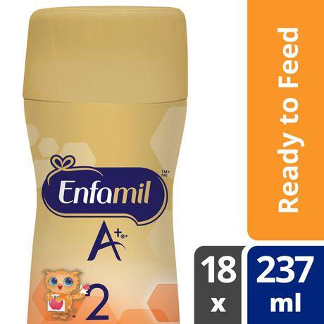 Préparation pour nourrissons Enfamil A+ 2, bouteille prête à servir et prête à utiliser la tétine - image 1 de 6