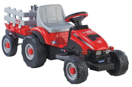 vhicule porteur ptit tracteur remorque case ih de peg perego