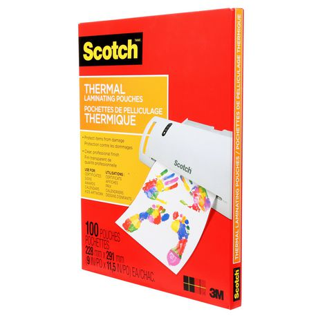 SCOTCH Thermal Laminating Pouches, 100/Pack, - image 2 of 5
