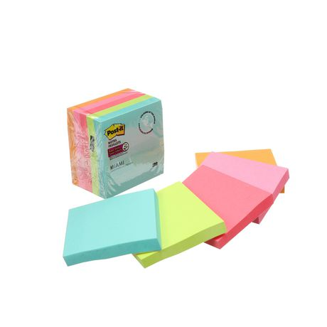 Post-it® Super Sticky Notes 654-5SSMIA-C RP, Miami Collection - image 6 of 8