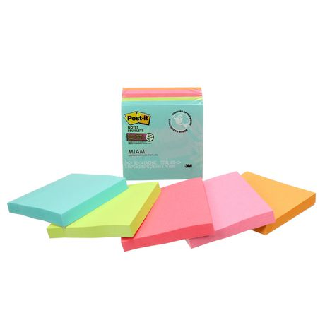 Post-it® Super Sticky Notes 654-5SSMIA-C RP, Miami Collection - image 5 of 8