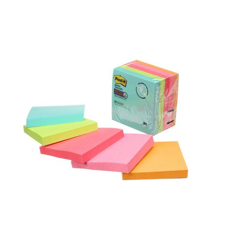 Post-it® Super Sticky Notes 654-5SSMIA-C RP, Miami Collection - image 7 of 8
