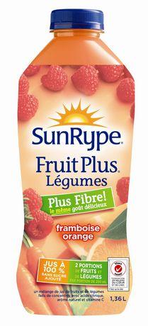 SunRype Fruit Plus - L'égumes Plus - Fibre framboise orange - image 2 de 2