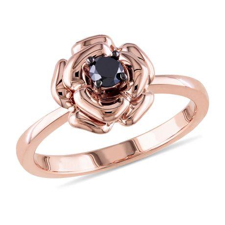 bague diamant en forme de rose