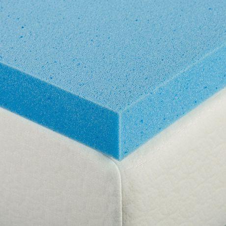 "Zinus 2"" Gel Memory Foam Mattress Topper - image 4 of 6"